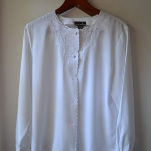 David Matthew Vintage White Blouse